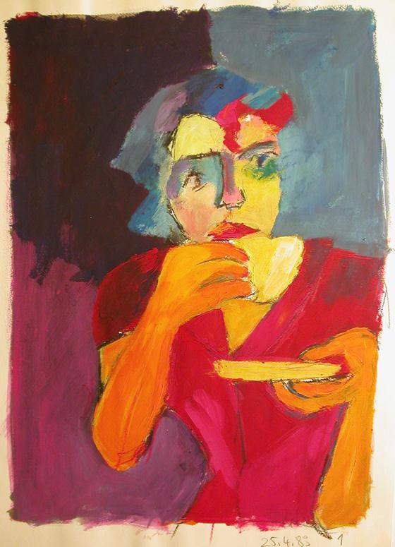 art_portrait_Kaffetrinkerin_2_1989