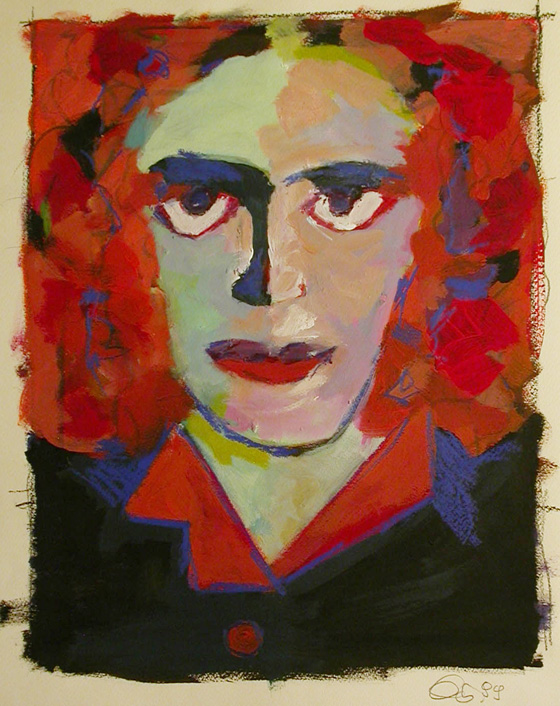 art_portrait_red_haired_woman_1999
